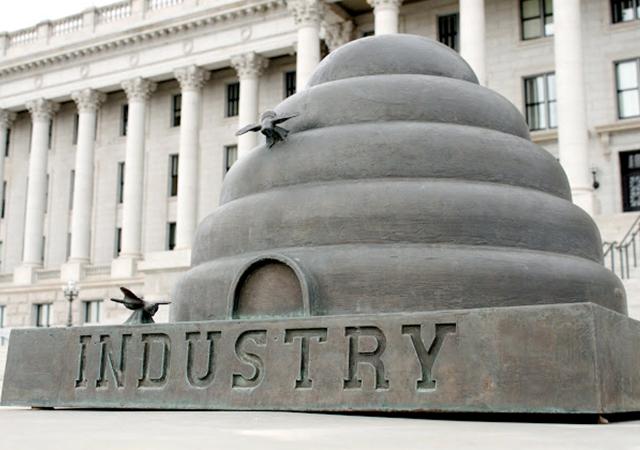 Utah Industry Sculpture Beehive
